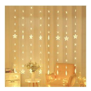 Star Curtain Lights String Lights